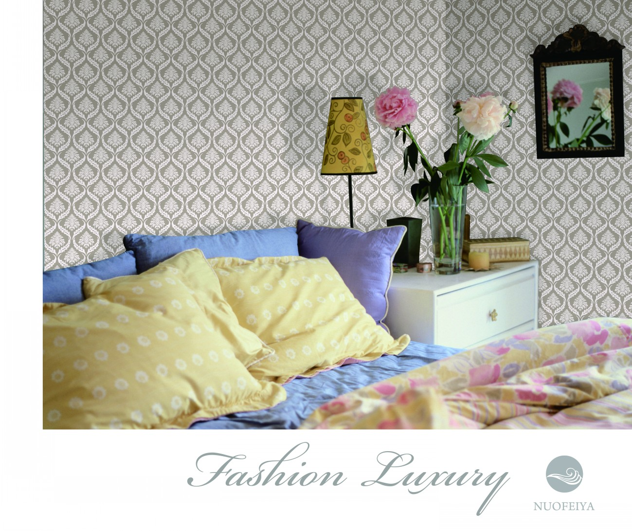FASHION LUXURY non-woven foaming wallpaper